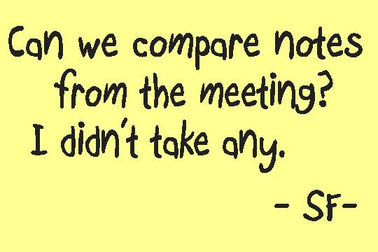 compare notes
