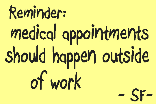 medical appointments